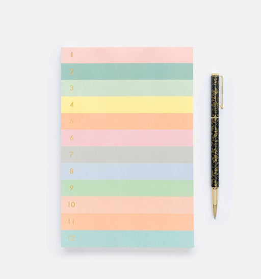 Numbered Color Block Notepad