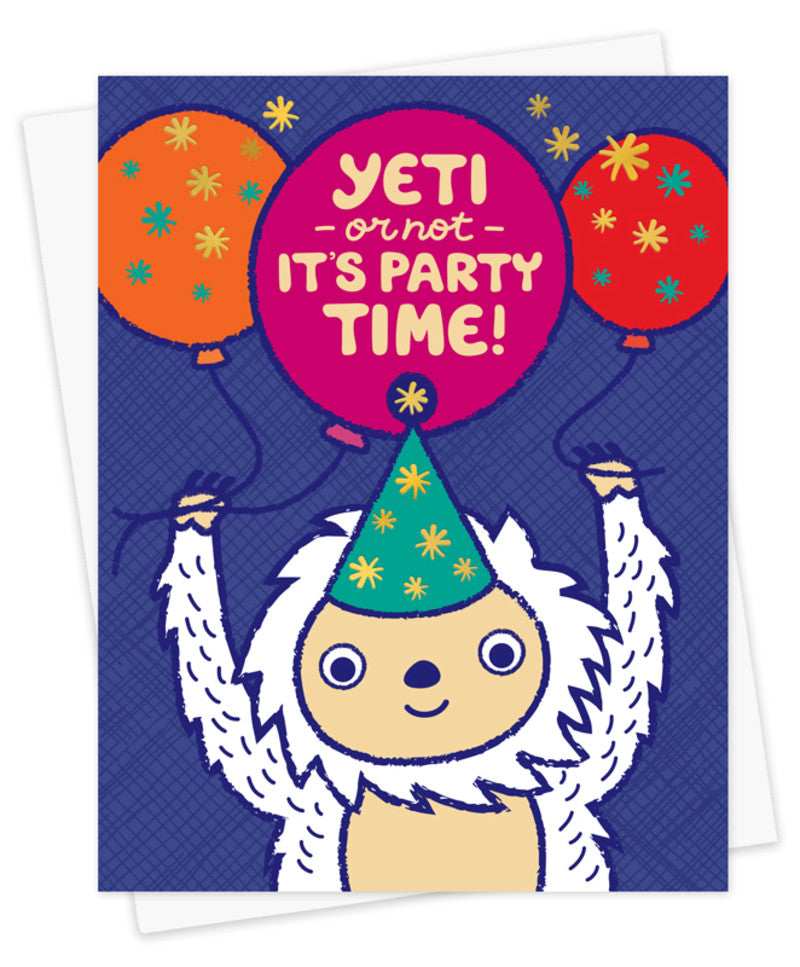 Yeti or Not Birthday Time Card