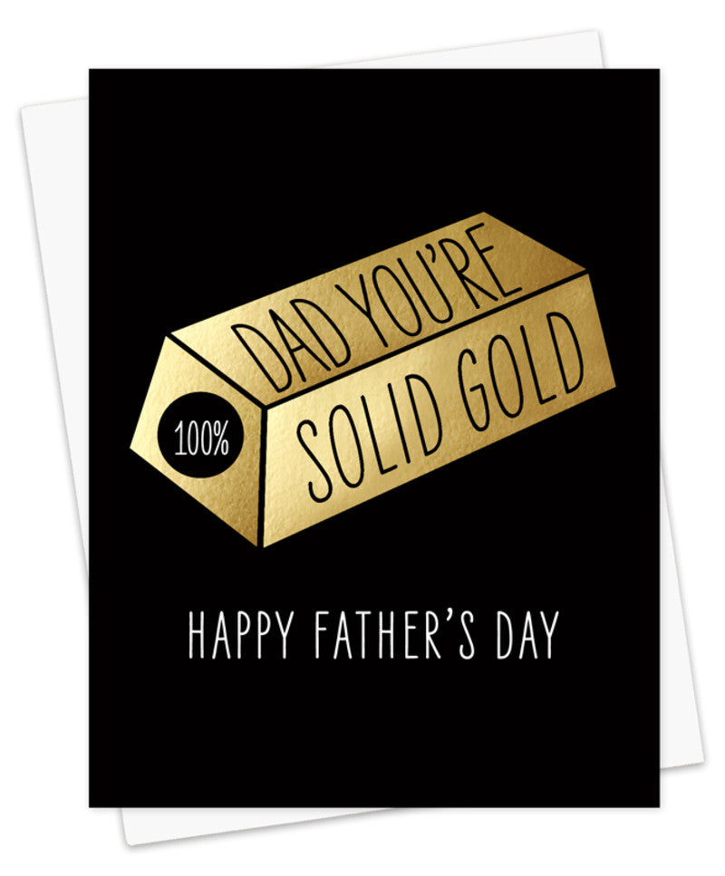 Solid Gold Dad Father's Day Card