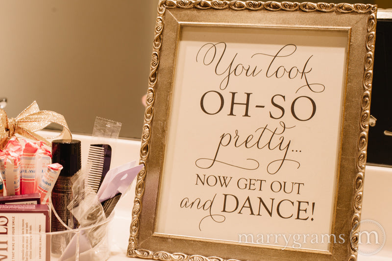 Oh-So Pretty Women's Restroom Wedding Sign Thin Style