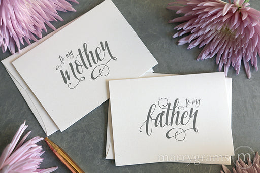To My Family mother and father Wedding Card Romantic Style