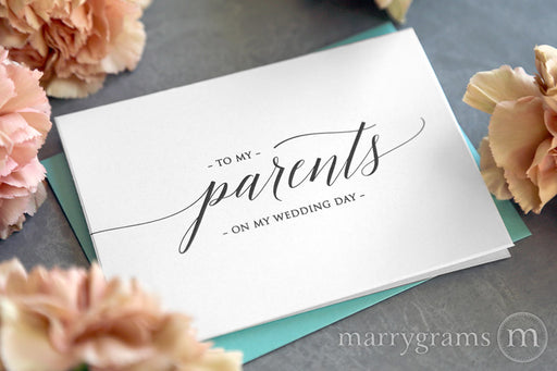 To My Family parents Wedding Day Card Delicate Style