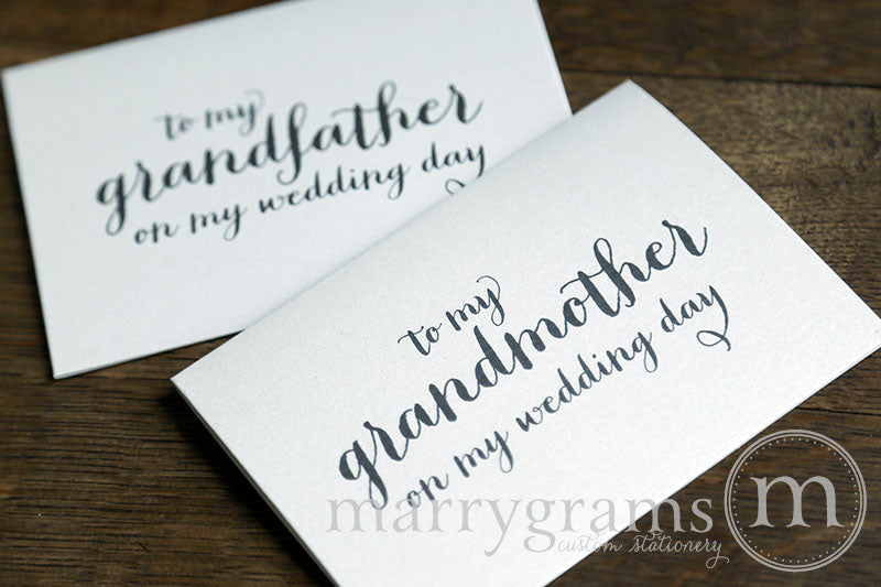 To My Family grandmother and grandfather Wedding Day Card Thick Style