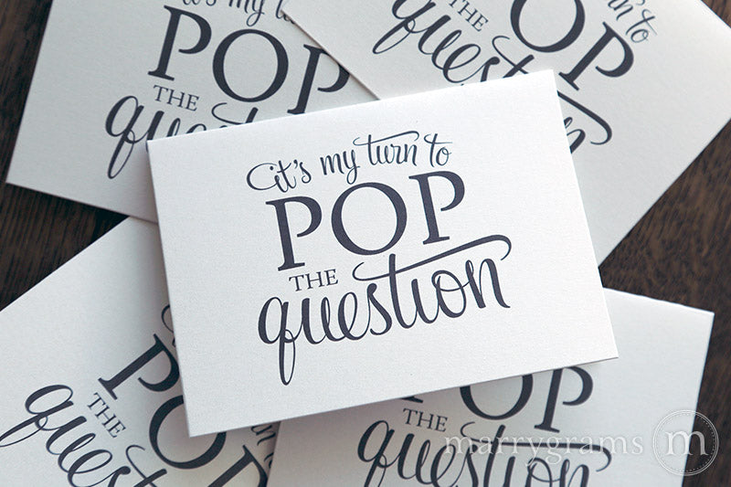 Pop the Question Be My Bridesmaid Card