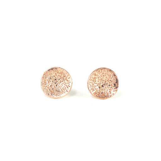 Diamond Dusted Medium Round Earrings rose gold