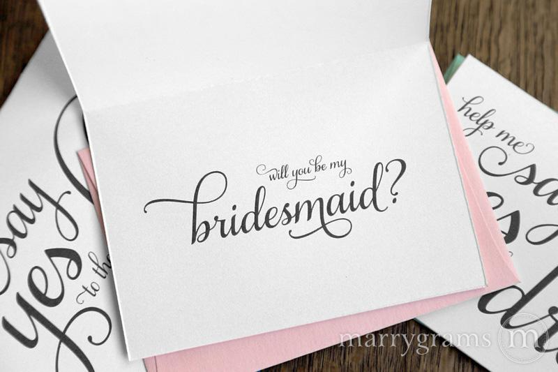 say yes to the dress bridesmaid card