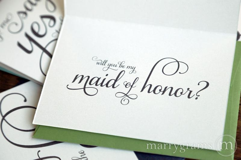 say yes to the dress maid of honor card