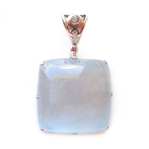 Selenite & Blue Topaz Pendant - Large
