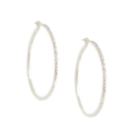 Diamond Dusted Hoop Earrings