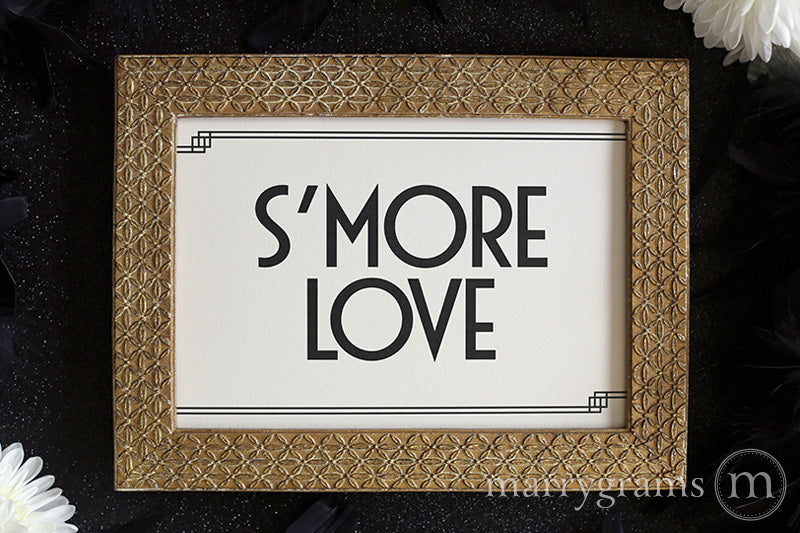 S'more Love Wedding Candy Buffet Sign Deco Style