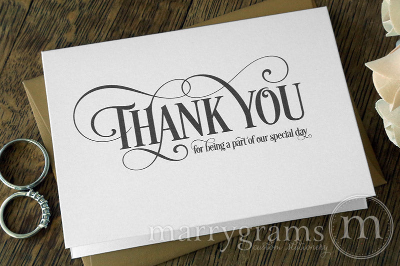 Our Special Day Vendor Thank You Card Enchanting Style