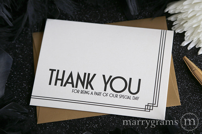 Our Special Day Vendor Thank You Card Deco Style
