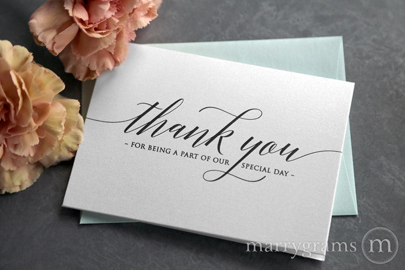 Our Special Day Vendor Thank You Card Delicate Style