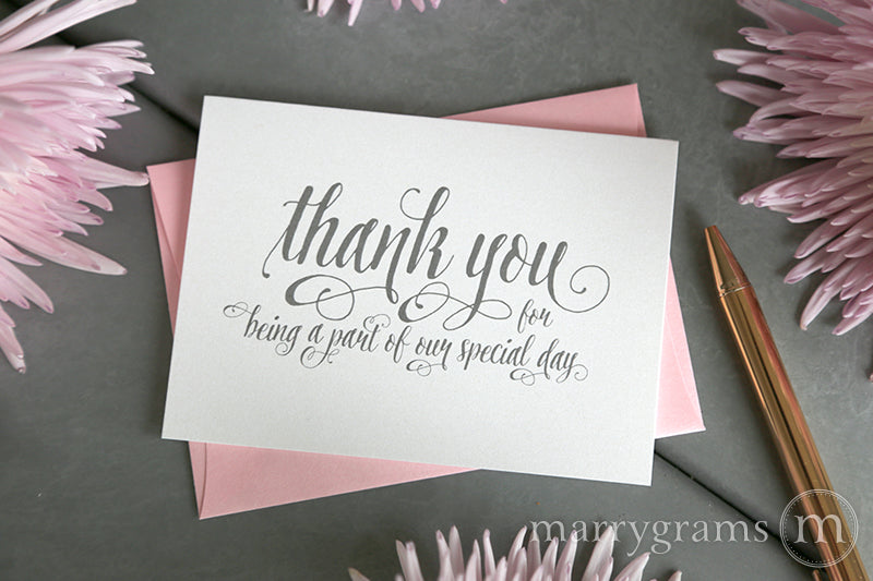 Our Special Day Vendor Thank You Card Romantic Style