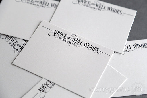 Wedding Advice & Wishes Cards Enchanting Style