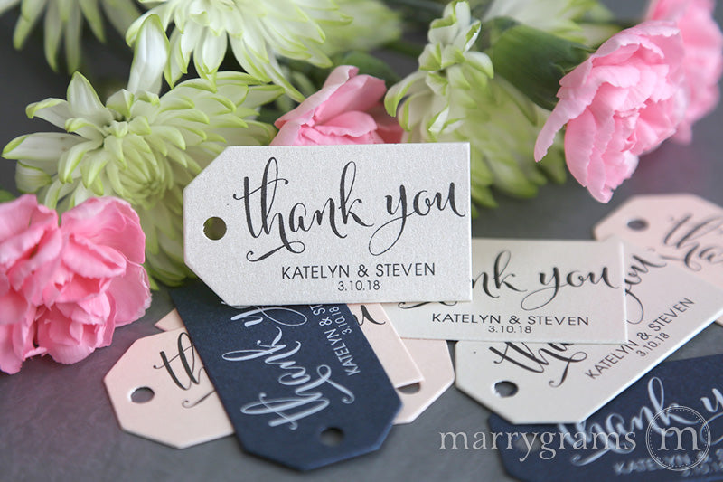 Thank You Favor Tags Whimsical Style