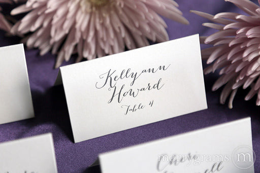 Reception Escort Cards Handwritten Style