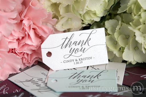 Thank You Favor Tags Delicate Style
