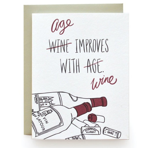 Wine & Age Birthday Card