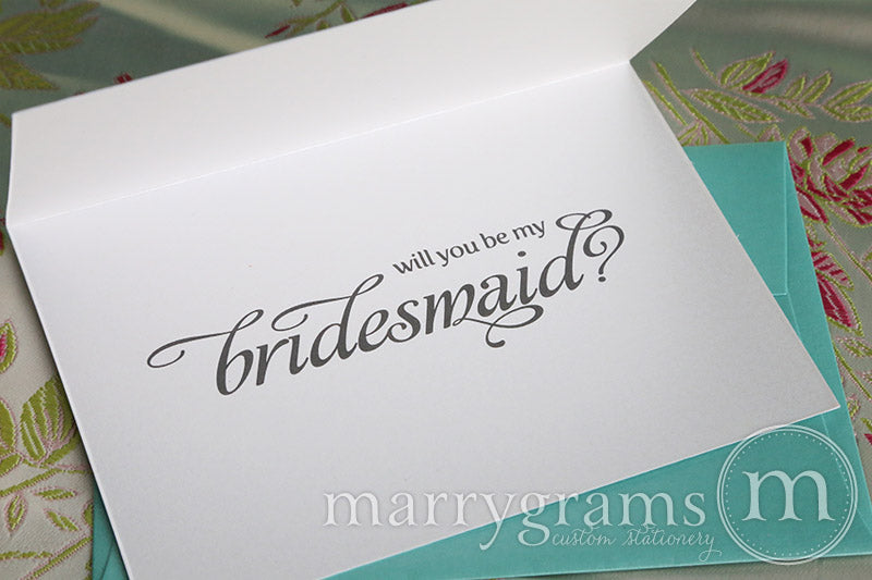 Stand by Me Be My Bridesmaid Proposal Card