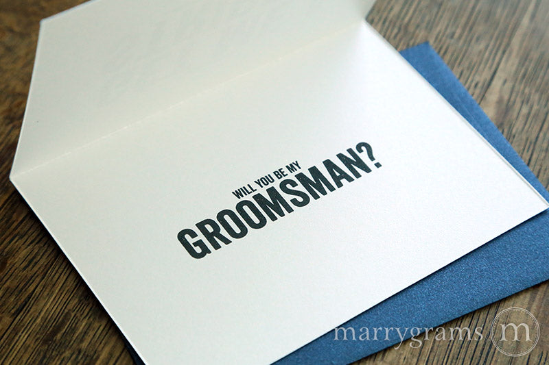 Don't Get Me... Be My Groomsman Invitation Card