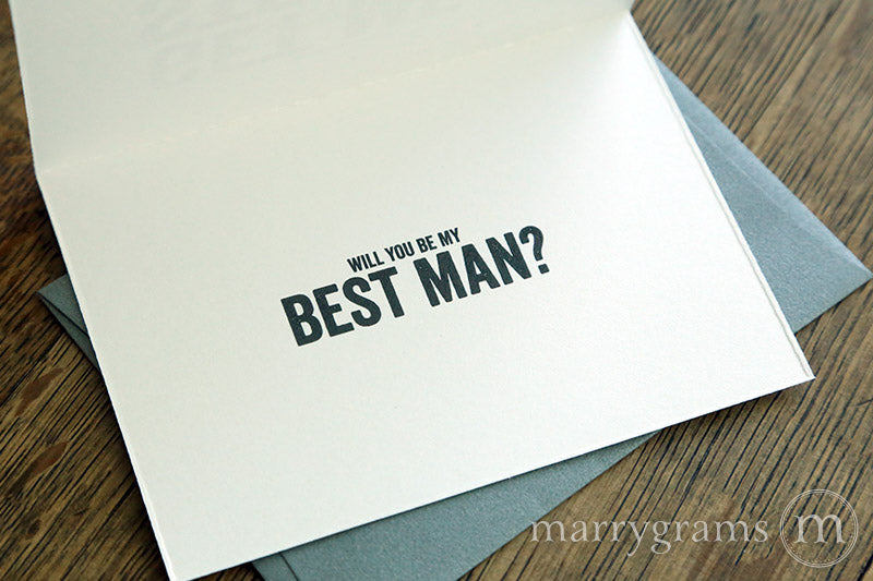 As long as you dont get me a stripper a tiger, a tattoo, or a baby, my fiancee approves - Be My Groomsman Invitation Card