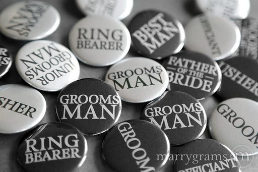 Guys Bridal Party Buttons