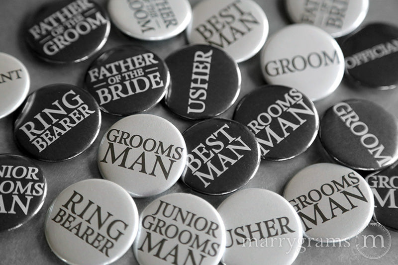 Time to Suit Up Groomsman proposal Button Cards