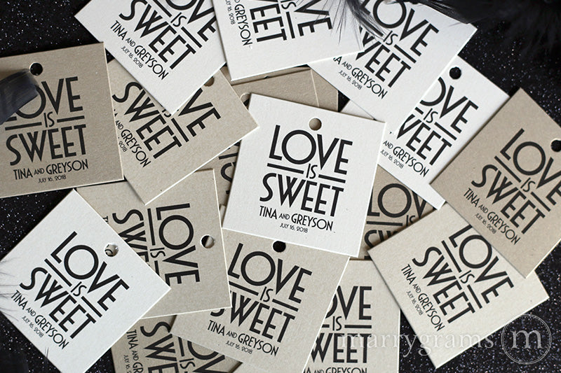 Love is Sweet Favor Tags Deco Style