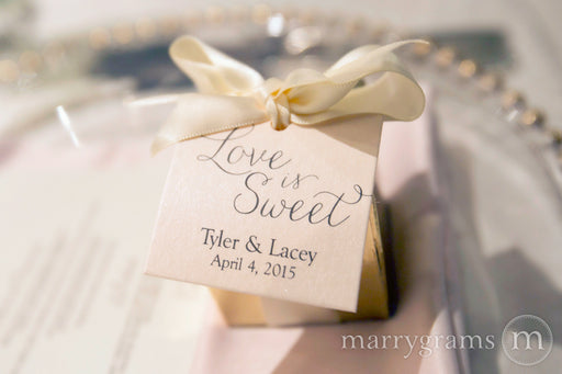 Love is Sweet Custom Wedding Favor Tag Thin Style