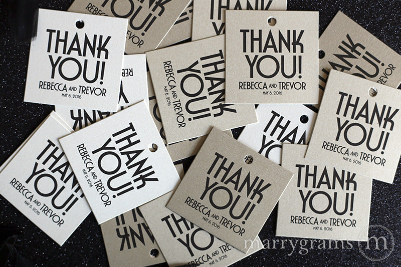 Thank You Favor Tags Deco Style