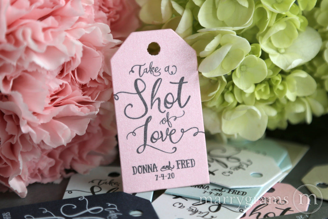 Take a Shot of Love Favor Tags