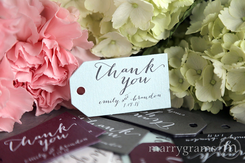 Thank You Favor Tags Handwritten Style