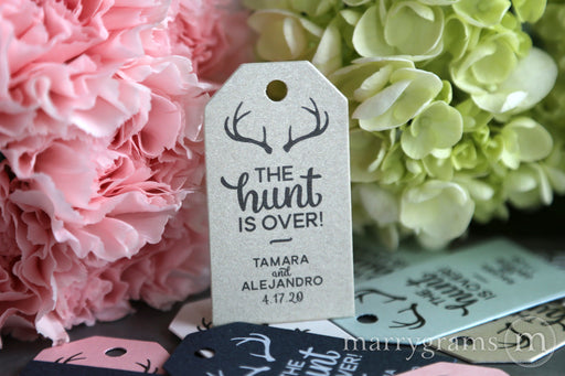 The Hunt is Over Custom Favor Tags