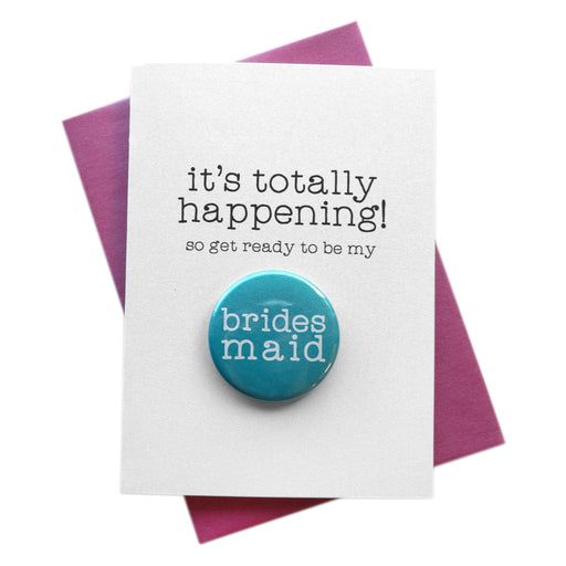 It's Totally Happening Bridal Party Button Cards