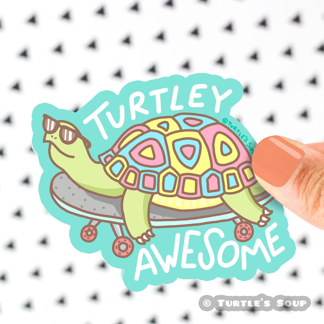 Turtley Awesome Vinyl Sticker