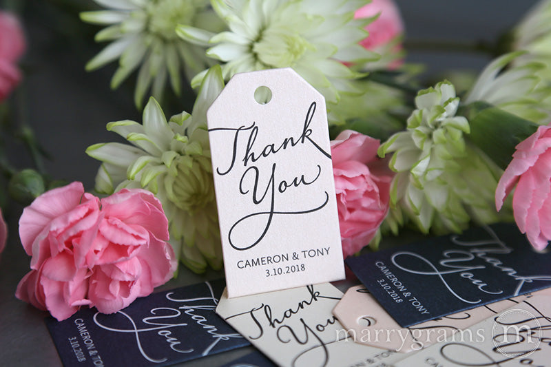 Thank You Favor Tags Diagonal Style