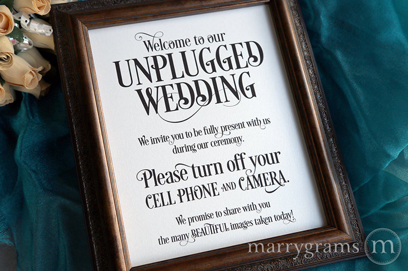 Welcome to Our Unplugged Wedding Sign Enchanting Style
