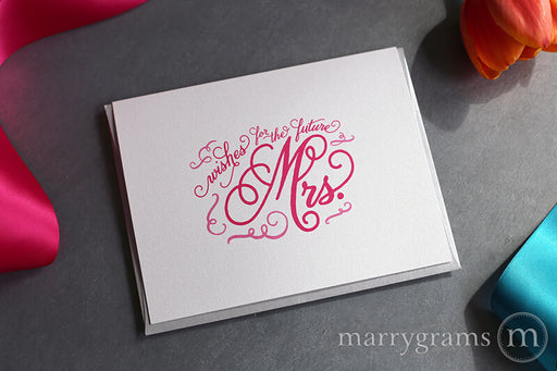 Wishes for the Future Mrs. Wedding Card