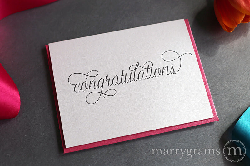 simple typography Congratulations Wedding & Engagement Card