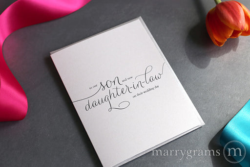 To Our Son & New Daughter-in-Law Wedding Day Card