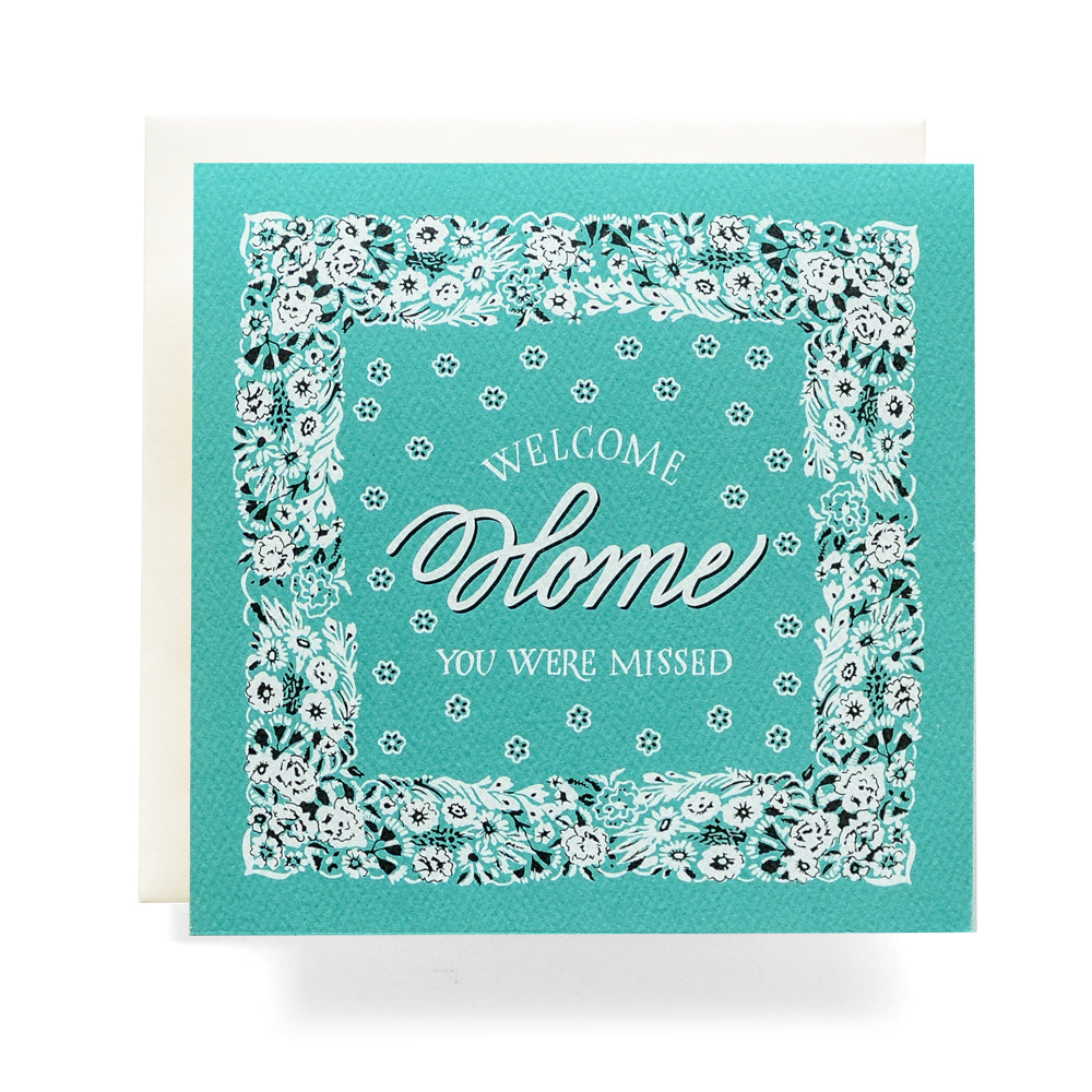 Bandana Welcome Home Missed Card