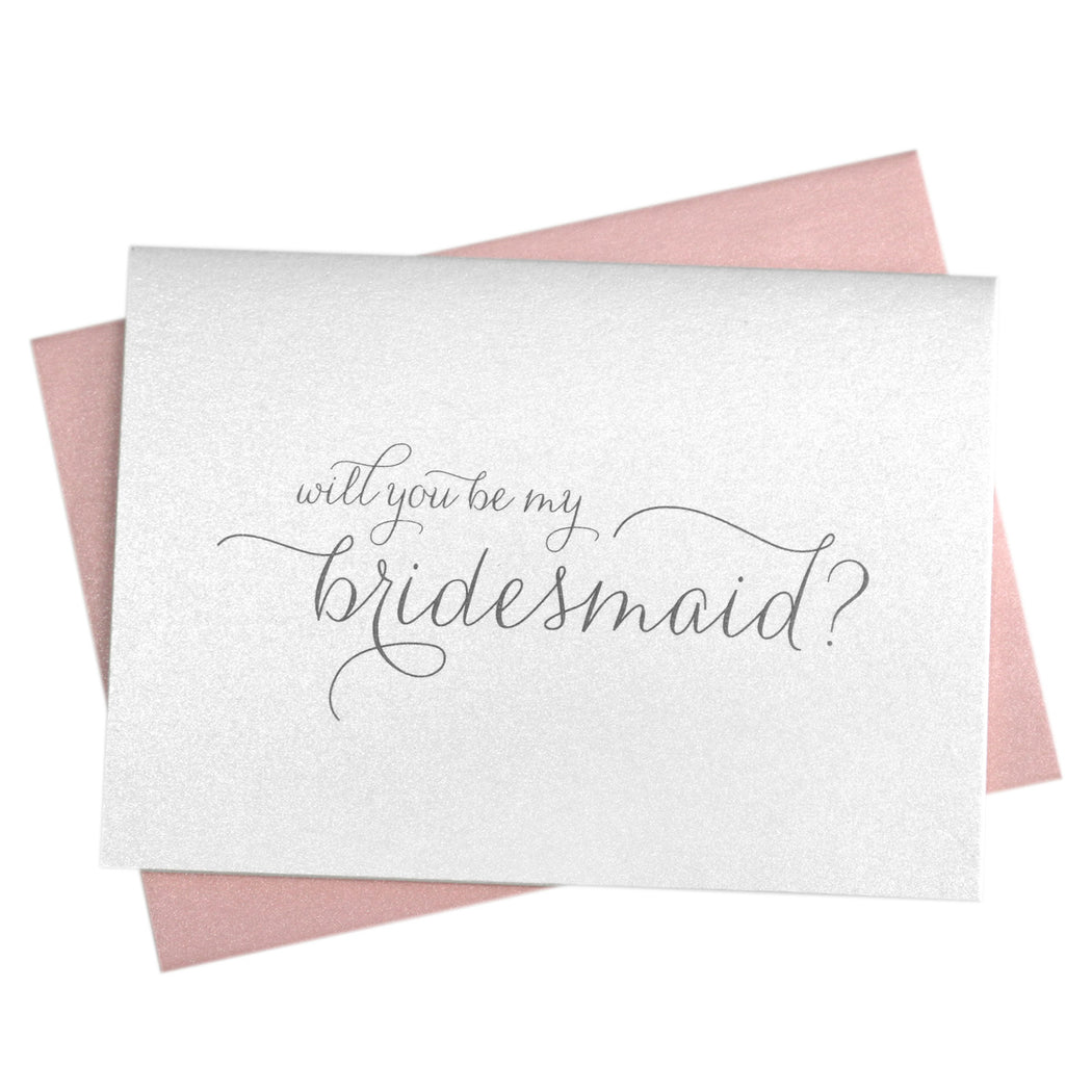 Will You Be My Bridesmaid Proposal Card Thin Style