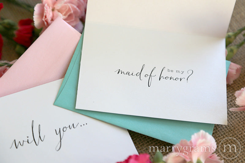 Be My Bridesmaid Cards Chic Style