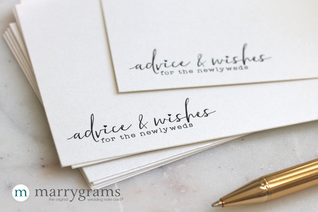 Wedding Advice & Wishes Cards Chic Heart Style