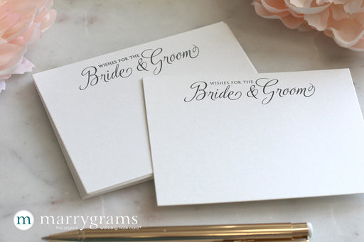 Wishes for the Bride & Groom advice Cards Script Style