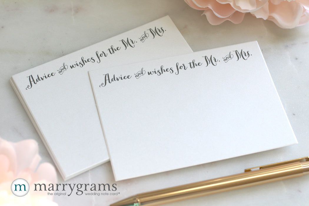Advice & Wishes for the Mr. and Mrs. Cards Thick Style Rustic Wedding