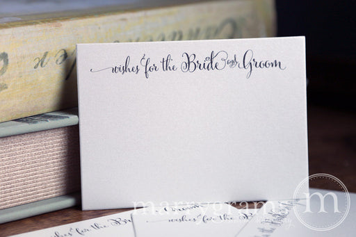 Wishes For The Bride and Groom advice Cards Whimsical Style
