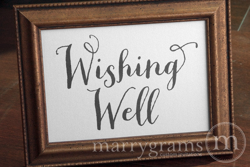 Wishing Well Wedding Sign Thick Style