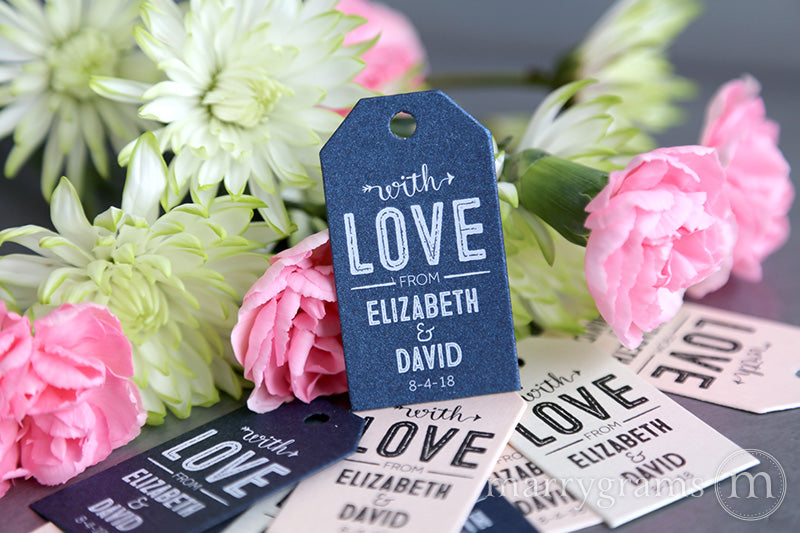 Arrow With Love Wedding Favor Tags